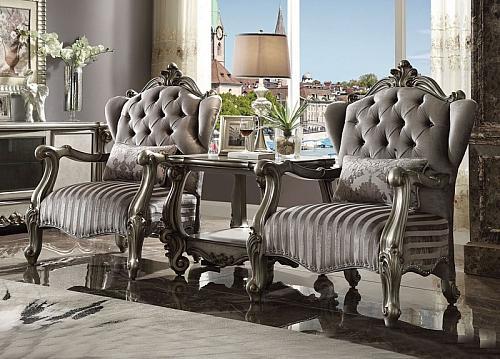 Versailles Accent Chair in Platinum