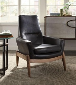 Dolphin Leather Accent Chair