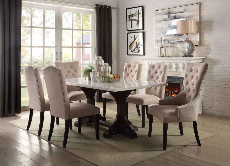 Gerardo Dining Room Set in Weathered Espresso