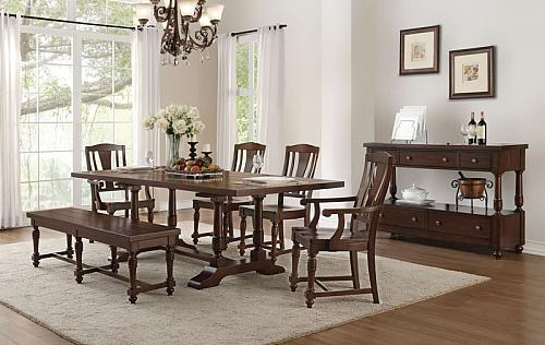 Tanner Dining Room Set with Wooden Chairs