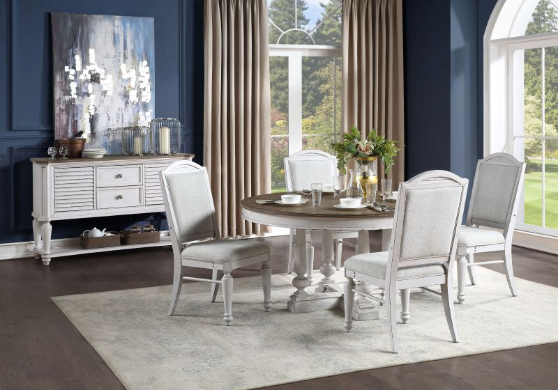 York Shire Formal Round Dining Room Set