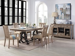 Nathaniel Dining Room Set with Arm Chairs
