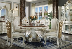 Picardy Formal Dining Room Set with Round Table