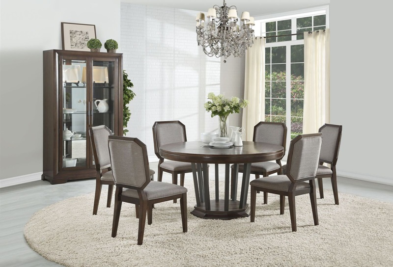 Acme 64085 Selma Dining Room Set With Round Table Dallas Designer Furniture