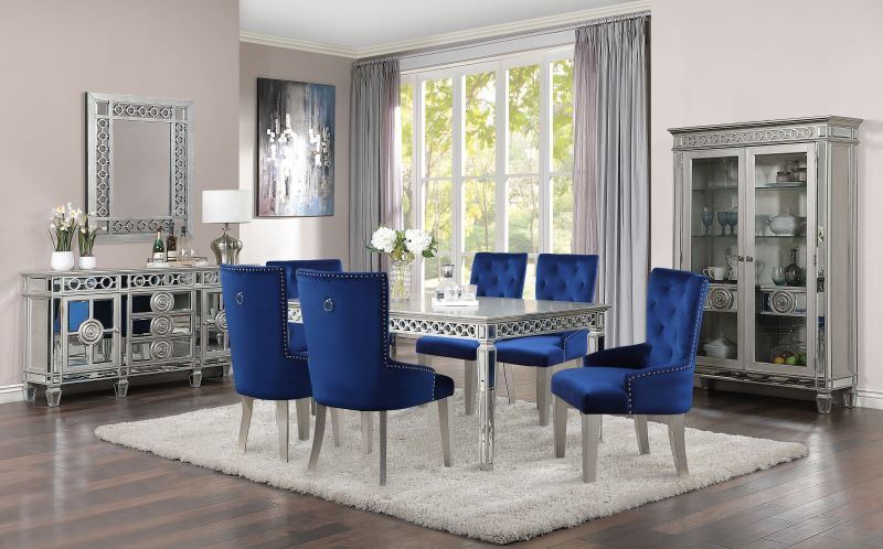 Varian Formal Dining Room Set in Antique Platinum