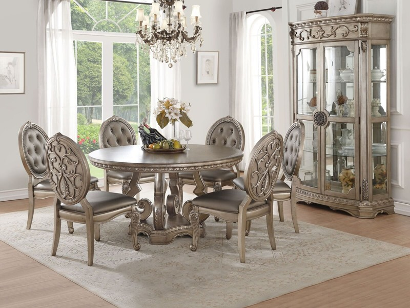 Acme | 66915 Northville Formal Dining Room Set with Round Table | Dallas  Designer Furniture