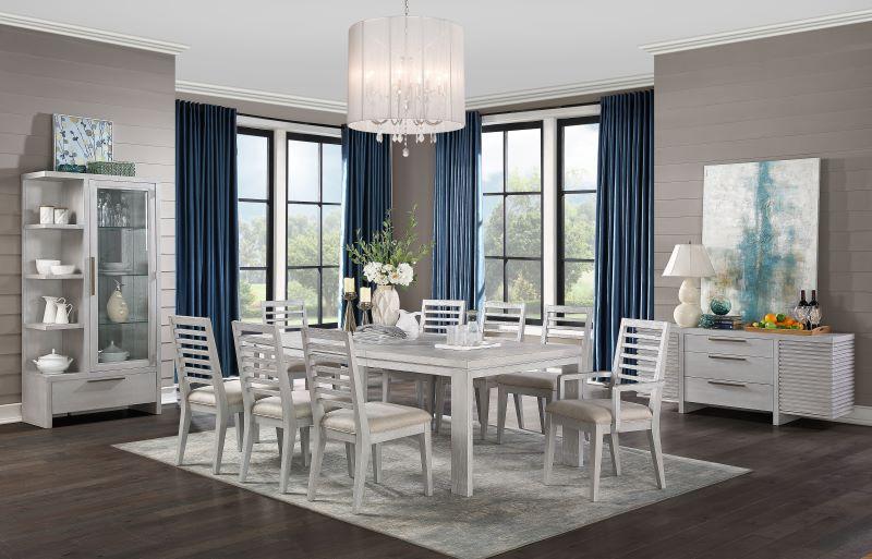 Aromas Dining Room Set in White Oak