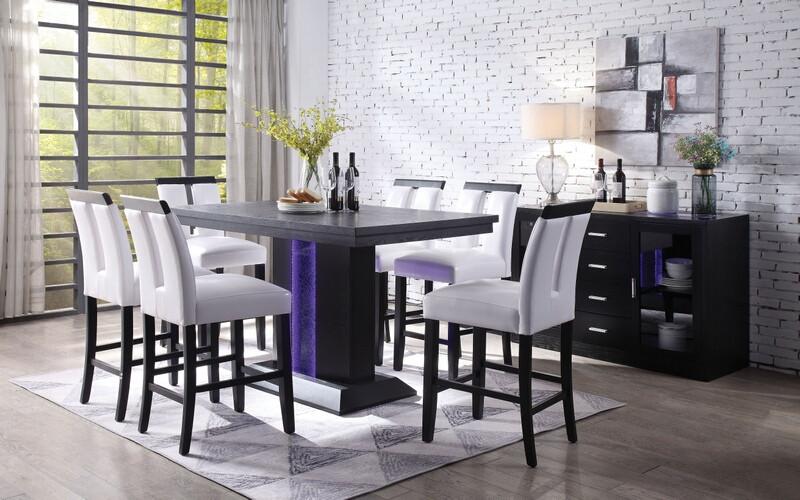 Acme 70655 Bernice Counter Height Dining Room Set Dallas Designer Furniture