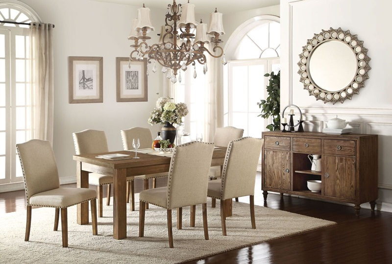 Parker Dining Room Set with Wood Tabletop