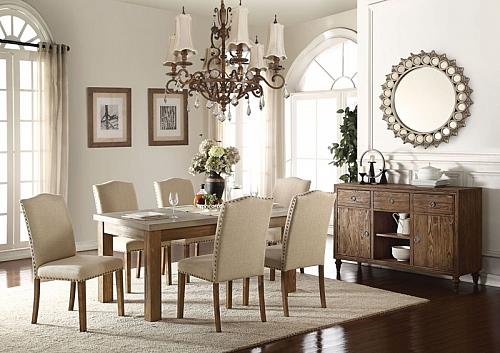 Parker Dining Room Set with Concrete Tabletop