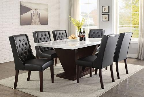 Forbes Dining Room Set with Black Chairs