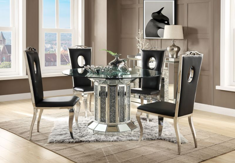 Noralie Round Pedestal Dining Room Set