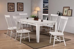 Adriel Dining Room Set in White