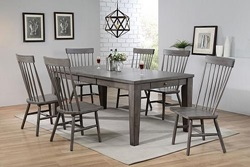 Adriel Dining Room Set in Gray