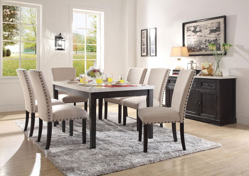 Acme 72850 Nolan Dining Room Set With Leg Table Dallas