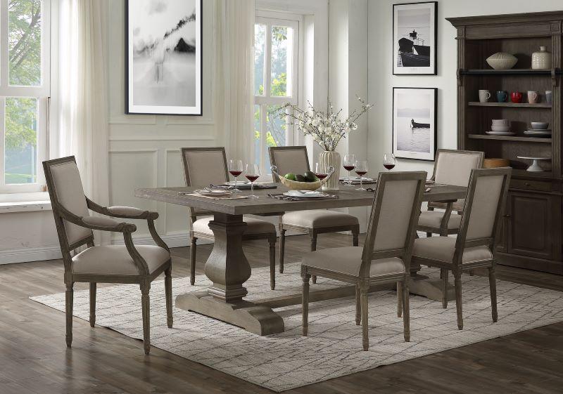 Ruby Dining Room Set in Rustic Gray Oak