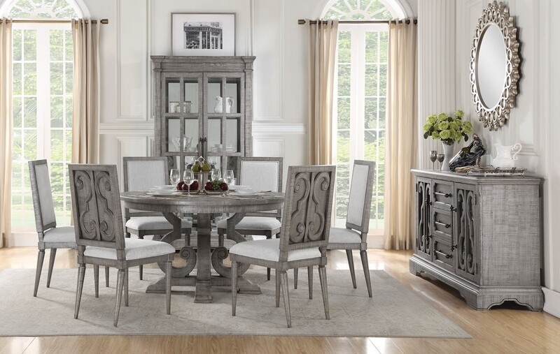 Artesia Formal Dining Room Set with Round Table