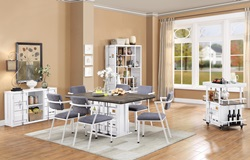 Cargo Dining Room Set in White