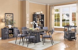Cargo Dining Room Set in Gunmetal