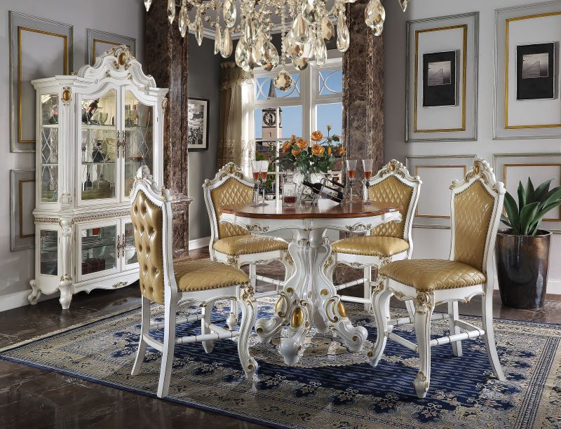 Picardy Counter Height Formal Dining Room Set in Butterscotch