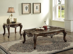 Latisha Coffee Table Set with Marble Tops