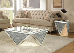Noralie Coffee Table Set with Geometric Base