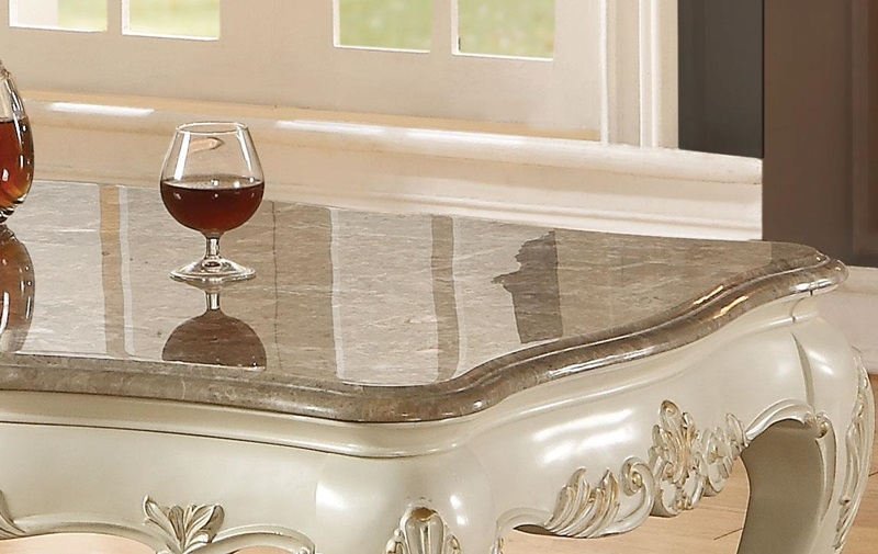 Chantelle Coffee Table Set in White