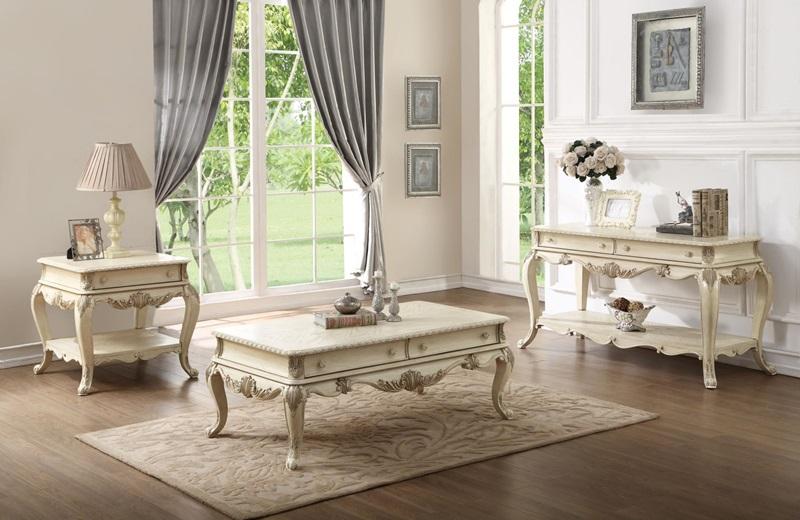 Ragenardus Coffee Table Set in White