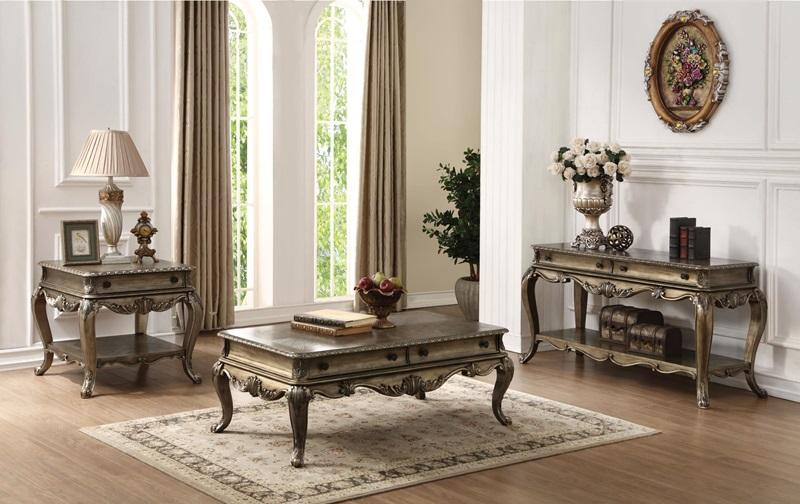 Ragenardus Coffee Table Set in Oak