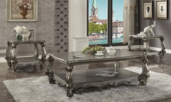 Versailles Coffee Table Set in Platinum