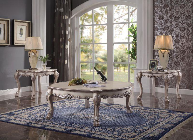 Dresden Oversized Formal Living Room in Vintage Bone White