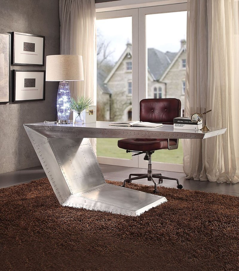Brancaster Aluminum Office Desk ...