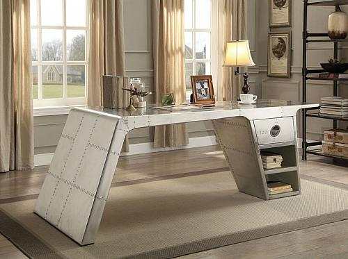 Brancaster Aluminum Office Desk with Storage