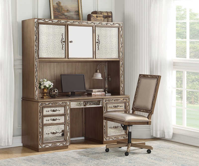 Orianne Computer Desk with Hutch