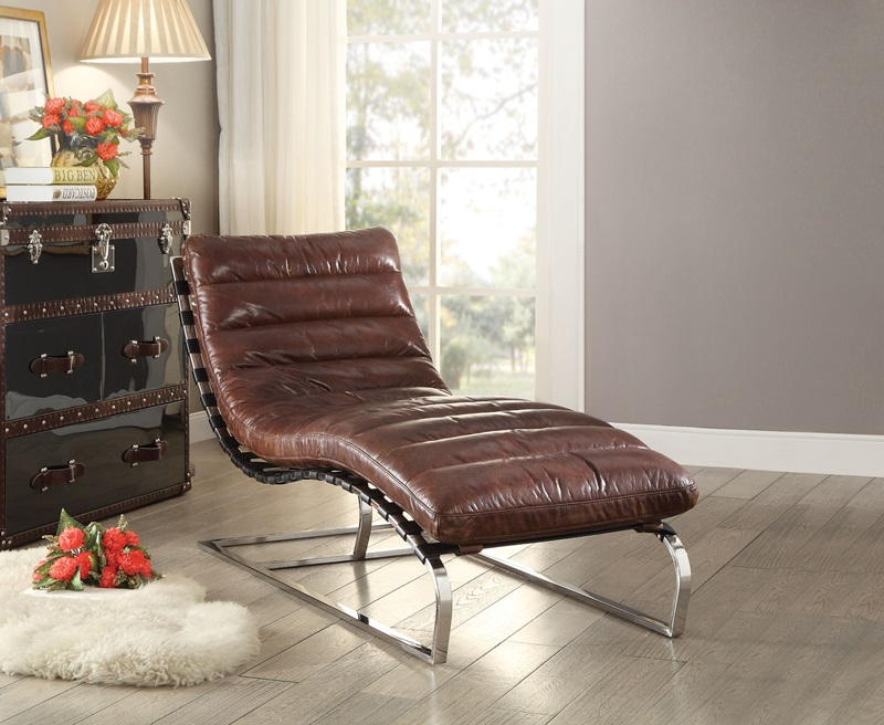Qortini Leather Chaise