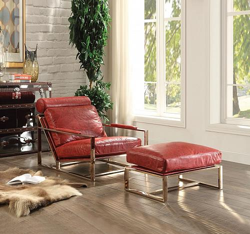 Quinto Leather Accent Chair Set