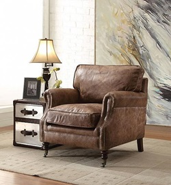 Dundee Leather Accent Chair
