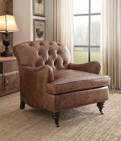 Durham Leather Accent Chair