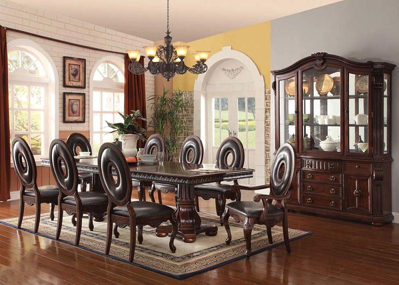 Dallas designer furniture abbeville formal dining room set for Unique formal dining room sets
