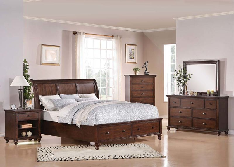 aceline bedroom set with storage bed - King Bedroom Sets Dallas