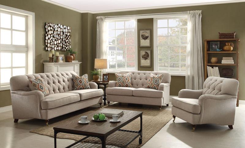 Alianza Living Room Set In Beige