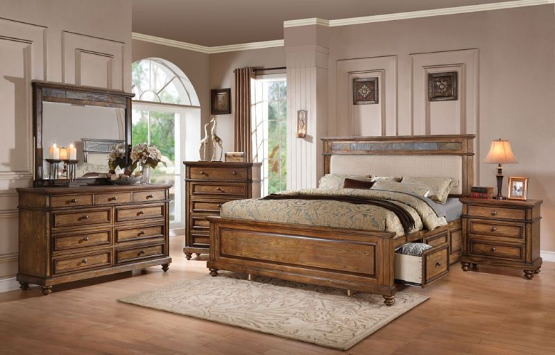 Arielle Bedroom Set with Storage Bed