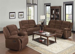 Bailey Reclining Living Room Set in Chenille
