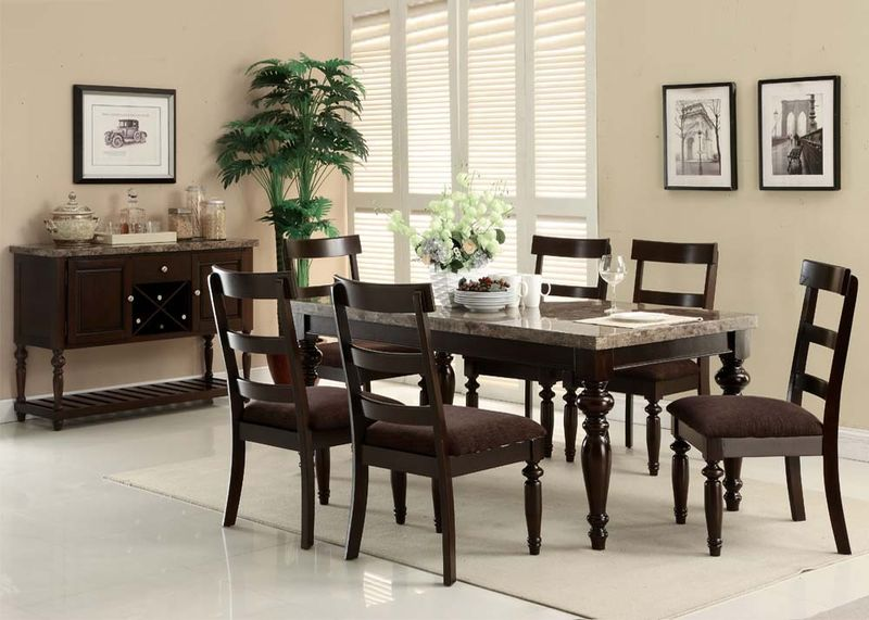 Bandele Dining Room Set with Slat Back Chairs