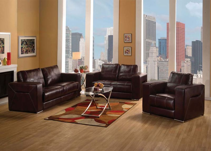Brayden Living Room Set in Brown