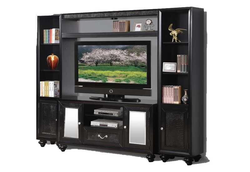 Caree Entertainment Center with Croc Accents