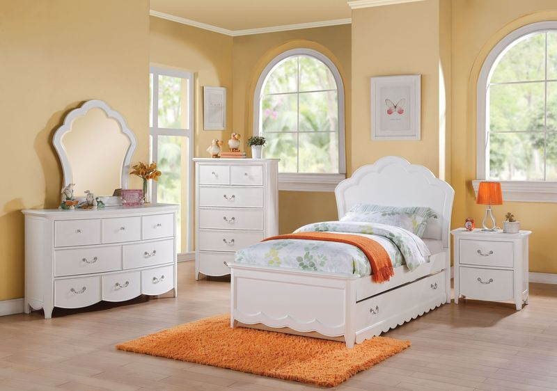 Cecile Youth Bedroom in White