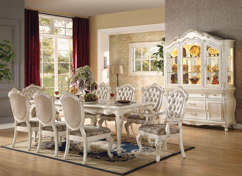 Acme | 63540 Chantelle Formal Dining Room Set in White | Dallas Designer  Furniture