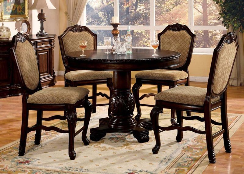 64082 Chateau De Ville Counter Height Dining Room Set In Espresso