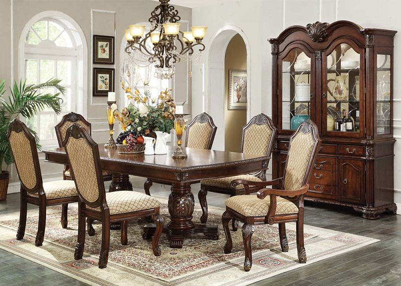Chateau De Ville Formal Dining Room Set in Espresso